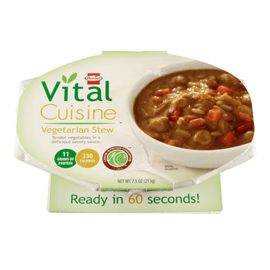 Oral Supplement Vital Cuisine™ Vegetarian Stew Flavor Ready to Use 7.5 oz. Bowl