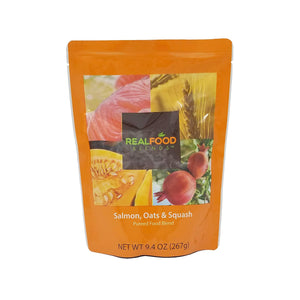 Tube Feeding Formula Real Food Blends™ 9.4 oz. Pouch Ready to Use Salmon Oats / Squash Adult / Child
