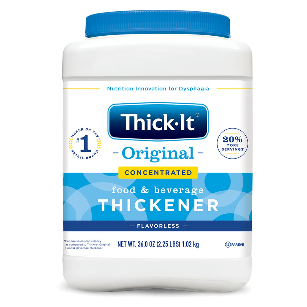 Food and Beverage Thickener Thick-It® Original Concentrated 36 oz. Canister Unflavored Powder Consistency Varies By Preparation