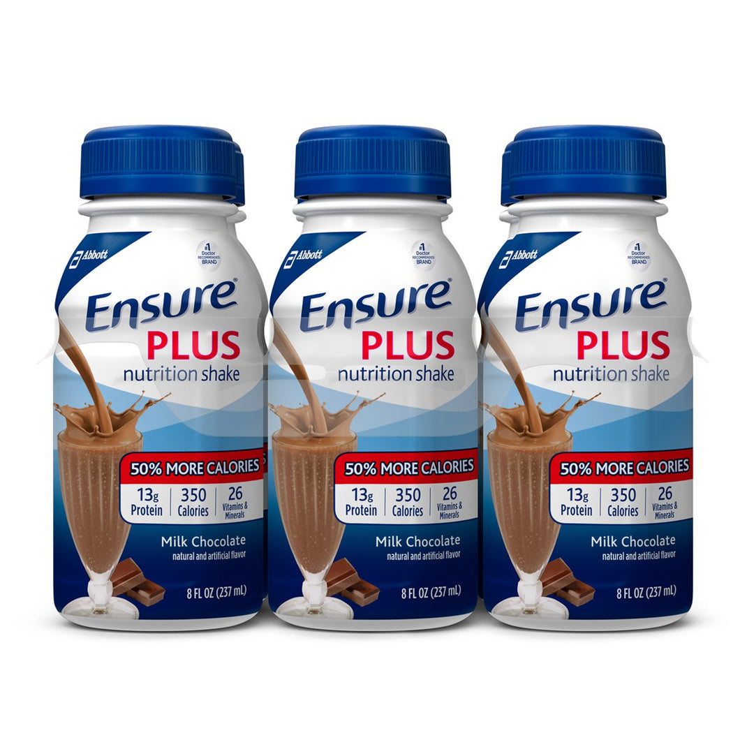 Oral Supplement Ensure® Plus Milk Chocolate Flavor Ready to Use 8 oz. Bottle