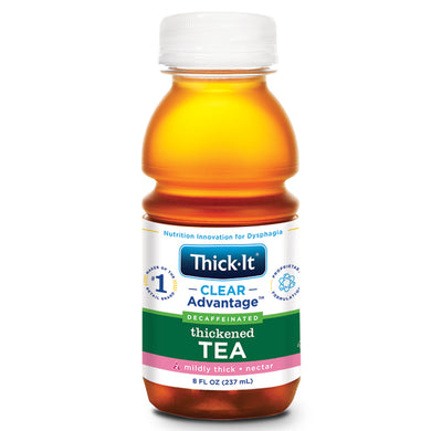 Thickened Decaffeinated Beverage Thick-It® Clear Advantage® 8 oz. Bottle Tea Flavor Ready to Use Nectar Consistency