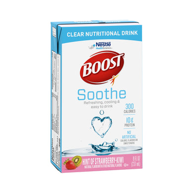 Oral Supplement Boost® Soothe Strawberry Kiwi Flavor Ready to Use 8 oz. Carton