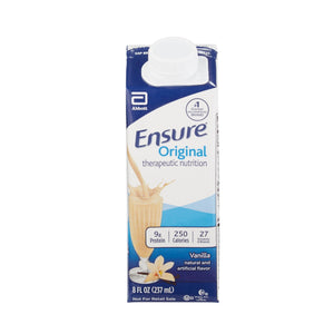 Oral Supplement Ensure® Vanilla Flavor Ready to Use 8 oz. Carton