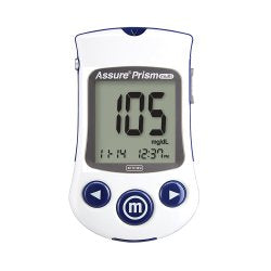 Blood Glucose Meter Assure® Prism Multi 5 Second Results Stores Up To 500 Results , 7 , 14 , and 30 Day Averaging Auto Coding