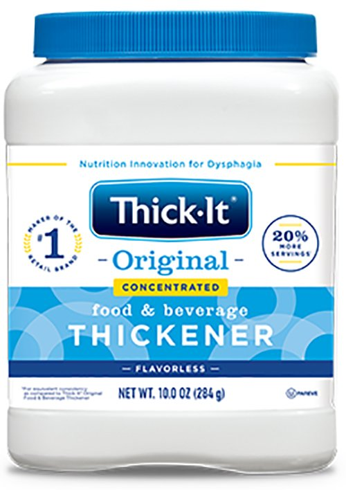 Food and Beverage Thickener Thick-It® Original Concentrated 10 oz. Canister Unflavored Powder Consistency Varies By Preparation