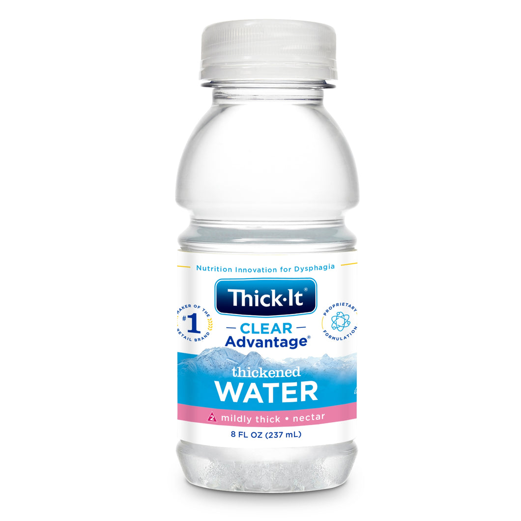 Thickened Water Thick-It® Clear Advantage® 8 oz. Bottle Unflavored Ready to Use Nectar Consistency
