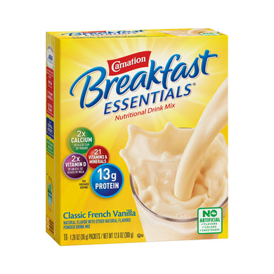 Oral Supplement Carnation® Breakfast Essentials® French Vanilla Flavor Powder 36 Gram Individual Packet