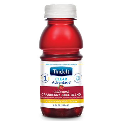 Thickened Beverage Thick-It® Clear Advantage® 8 oz. Bottle Cranberry Flavor Ready to Use Honey Consistency