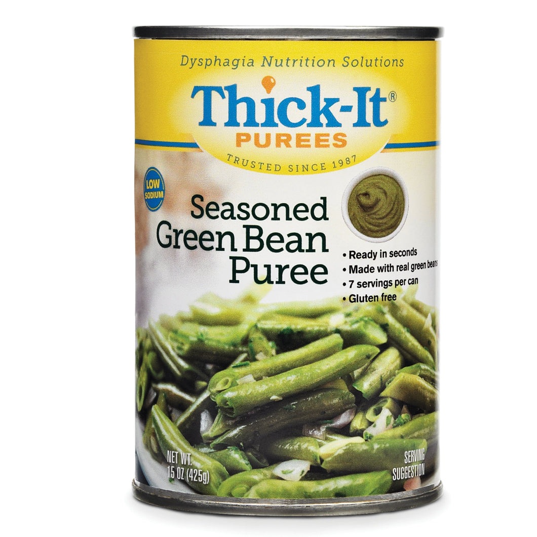 Puree Thick-It® 15 oz. Can Seasoned Green Bean Flavor Ready to Use Puree Consistency