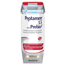 Load image into Gallery viewer,  Oral Supplement / Tube Feeding Formula Peptamen® 1.5 with Prebio 1™ Vanilla Flavor Ready to Use 250 mL Carton