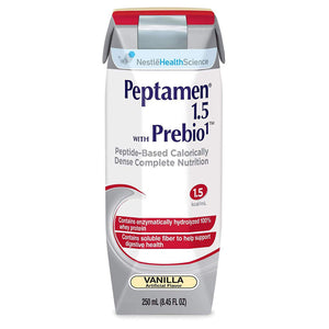 Oral Supplement / Tube Feeding Formula Peptamen® 1.5 with Prebio 1™ Vanilla Flavor Ready to Use 250 mL Carton