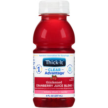 Load image into Gallery viewer,  Thickened Beverage Thick-It® Clear Advantage® 8 oz. Bottle Cranberry Flavor Ready to Use Nectar Consistency