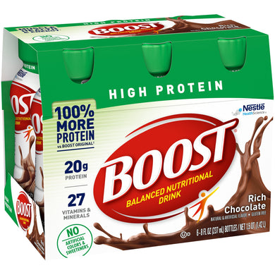 Oral Supplement Boost® High Protein Rich Chocolate Flavor Ready to Use 8 oz. Bottle