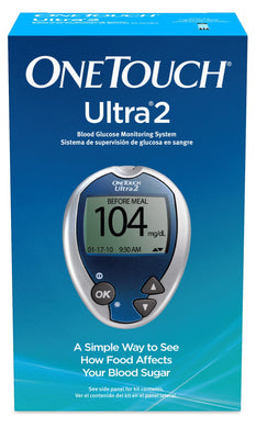 Blood Glucose Meter OneTouch Ultra® 2 5 Second Results Stores Up To 500 Results with Date and Time No Coding Required