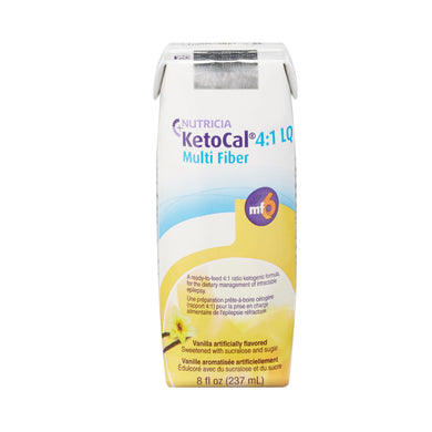 Oral Supplement KetoCal® 4:1 LQ Vanilla Flavor Ready to Use 8 oz. Carton