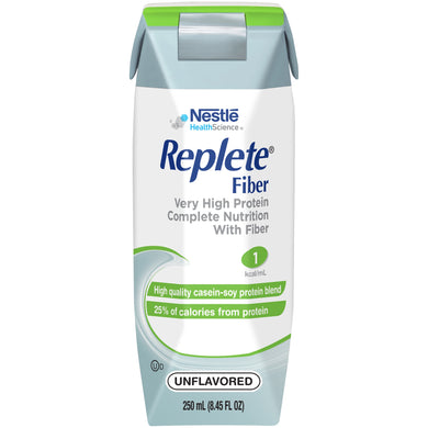 Tube Feeding Formula Replete® Fiber 8.45 oz. Carton Ready to Use Unflavored Adult