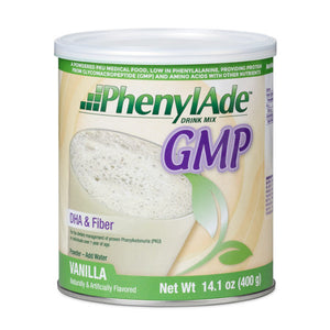 PKU Oral Supplement PhenylAde™ GMP Vanilla Flavor 400 Gram Can Powder