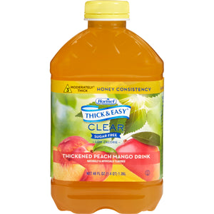 Thickened Beverage Thick & Easy® Sugar Free 46 oz. Bottle Peach Mango Flavor Ready to Use Honey Consistency