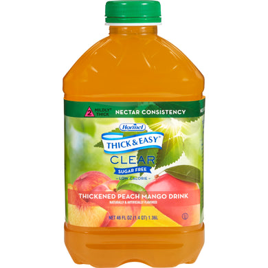Thickened Beverage Thick & Easy® Sugar Free 46 oz. Bottle Peach Mango Flavor Ready to Use Nectar Consistency