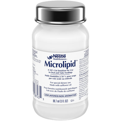 Oral Supplement Microlipid™ Unflavored Ready to Use 3 oz. Bottle