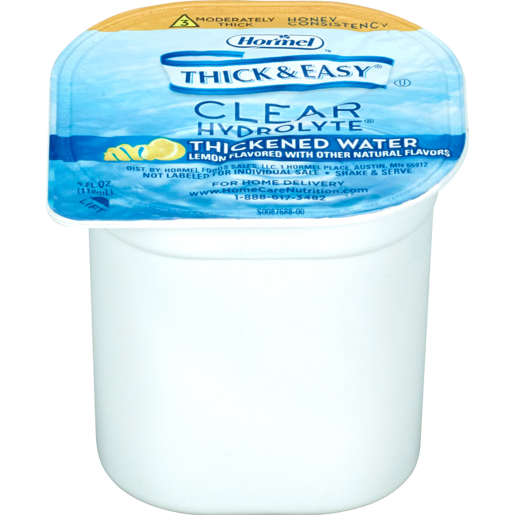 Thickened Water Thick & Easy® Hydrolyte® 4 oz. Portion Cup Lemon Flavor Ready to Use Honey Consistency