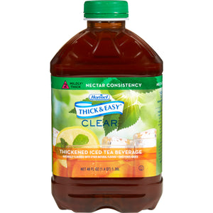 Thickened Beverage Thick & Easy® 46 oz. Bottle Iced Tea Flavor Ready to Use Nectar Consistency