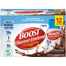 Load image into Gallery viewer,  Oral Supplement Boost® Glucose Control® Rich Chocolate Flavor Ready to Use 8 oz. Bottle