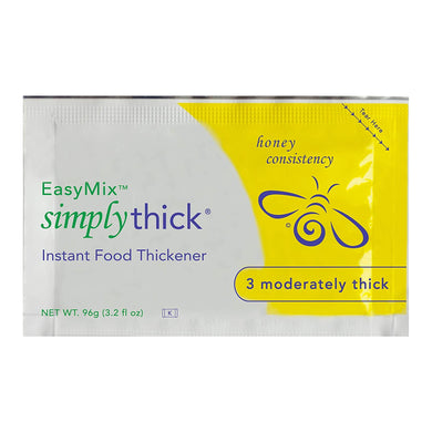 Food and Beverage Thickener SimplyThick® Easy Mix 96 Gram Individual Packet Unflavored Gel Honey Consistency