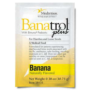 Oral Supplement Banatrol® Plus Banana Flavor Powder 10.75 Gram Individual Packet