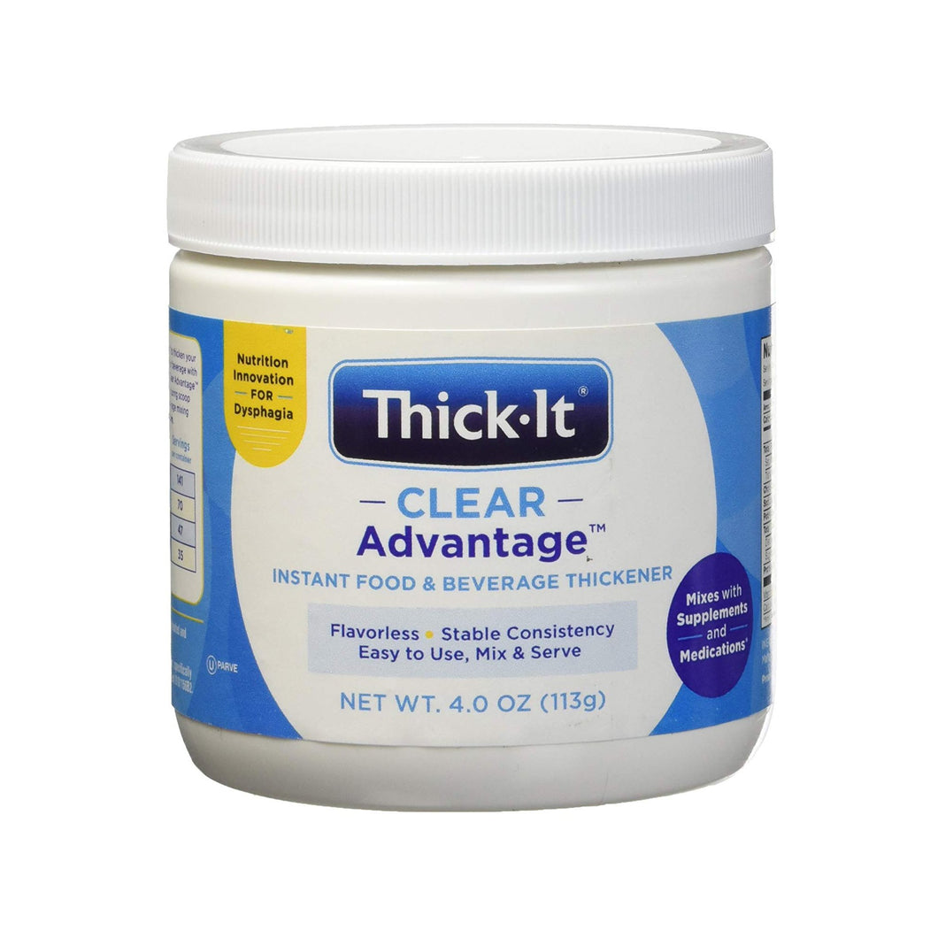 Food and Beverage Thickener Thick-It® Clear Advantage® 4 oz. Jar Unflavored Powder Consistency Varies By Preparation