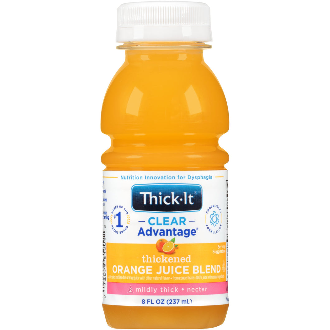 Thickened Beverage Thick-It® Clear Advantage® 8 oz. Bottle Orange Flavor Ready to Use Nectar Consistency