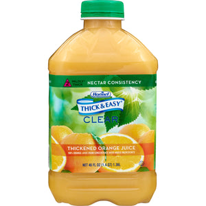 Thickened Beverage Thick & Easy® 46 oz. Bottle Orange Juice Flavor Ready to Use Nectar Consistency