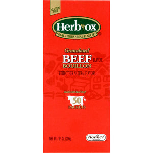 Instant Broth Herb-Ox® Beef Flavor Bouillon Flavor Ready to Use 8 oz. Individual Packet