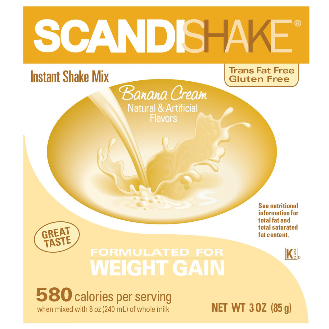 Oral Supplement Scandishake® Banana Cream Flavor Powder 3 oz. Individual Packet
