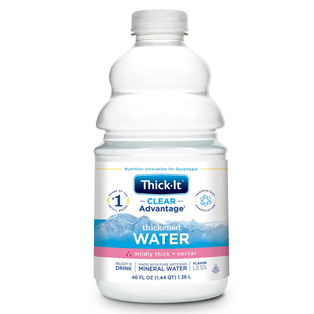 Thickened Water Thick-It® Clear Advantage® 46 oz. Bottle Unflavored Ready to Use Nectar Consistency