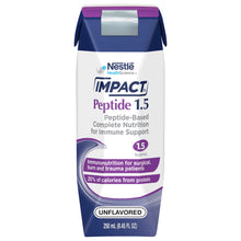 Load image into Gallery viewer,  Tube Feeding Formula Impact® Peptide 1.5 8.45 oz. Carton Ready to Use Unflavored Adult