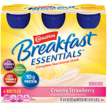 Load image into Gallery viewer,  Oral Supplement Carnation® Breakfast Essentials® Creamy Strawberry Flavor Ready to Use 8 oz. Bottle