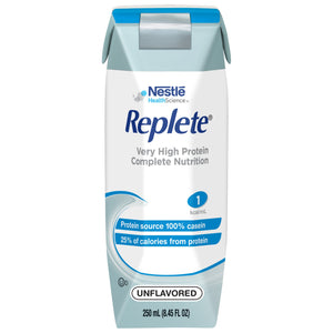 Tube Feeding Formula Replete® 8.45 oz. Carton Ready to Use Unflavored Adult