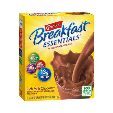 Oral Supplement Carnation® Breakfast Essentials® Rich Milk Chocolate Flavor Powder 1.26 oz. Individual Packet