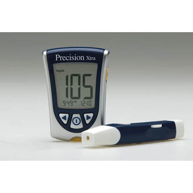 Blood Glucose Meter Precision Xtra® 5 Second Glucose, 10 Second Ketones Results Stores Up To 450 Results No Coding Required **See Eligibility Requirements To Purchase**