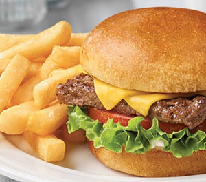 Quarter Pounder Salad Burger with Cheese & Chips