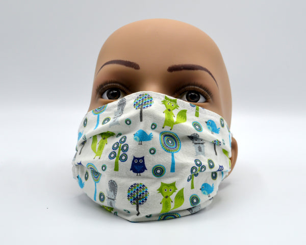 Reusable Face Mask- Foxes and Trees