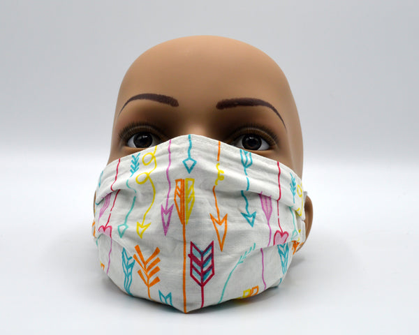 Reusable Face Mask- Encouraging Arrows