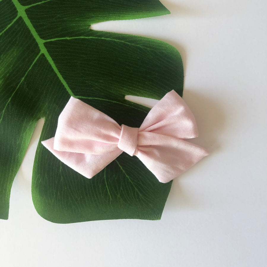 Pale Pink Hair Bow