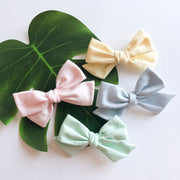 Pastel Rainbow Hair Bow Set