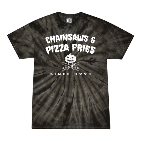 Chainsaws & Pizza Fries Tie Dye (PREORDER)