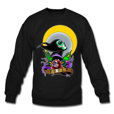 Foolish (Unisex Crewneck) - black