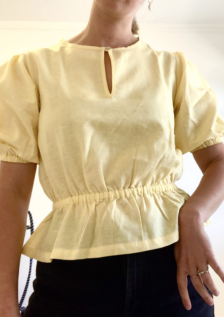 Mane Project - Puff Sleeve Blouse - Honeysuckle