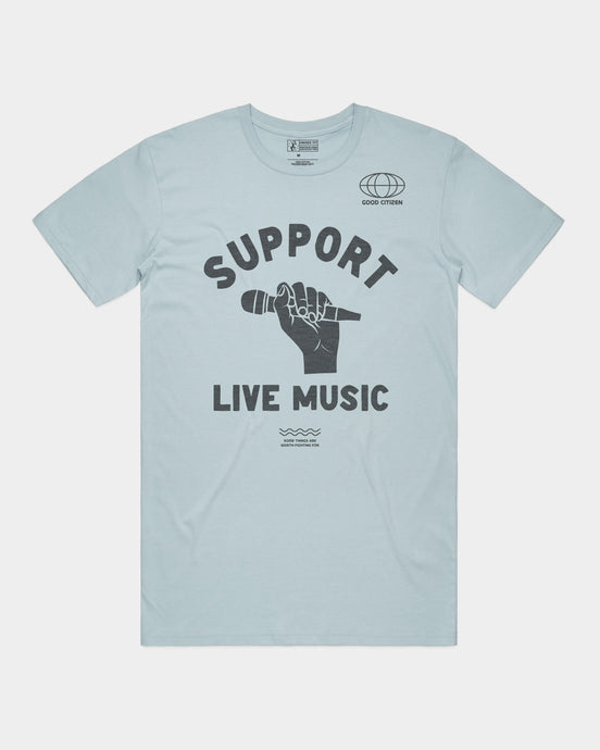 Support Live Music Adult Tee