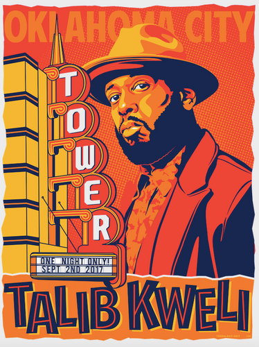 Talib Kwelli 16 x 20 Screen Printed Poster